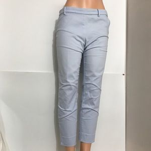 H&M Powder Blue Cropped Slim Fit Trousers Pants